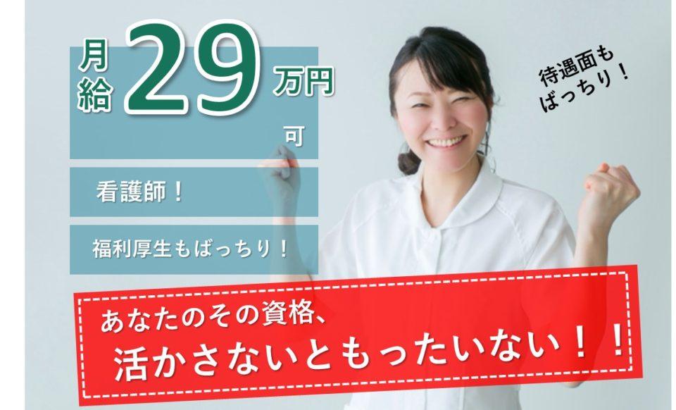 日曜休 月給29万円 夜勤なし 訪問看護 看護師【求人ID:11241-ns-ky-ns-par】